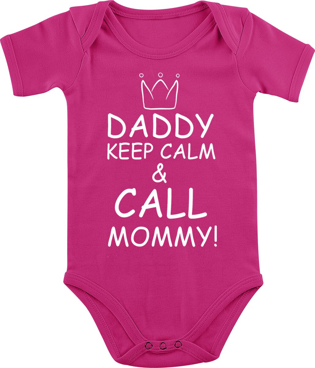 Image of Daddy Keep Calm And Call Mommy! Body fuchsia