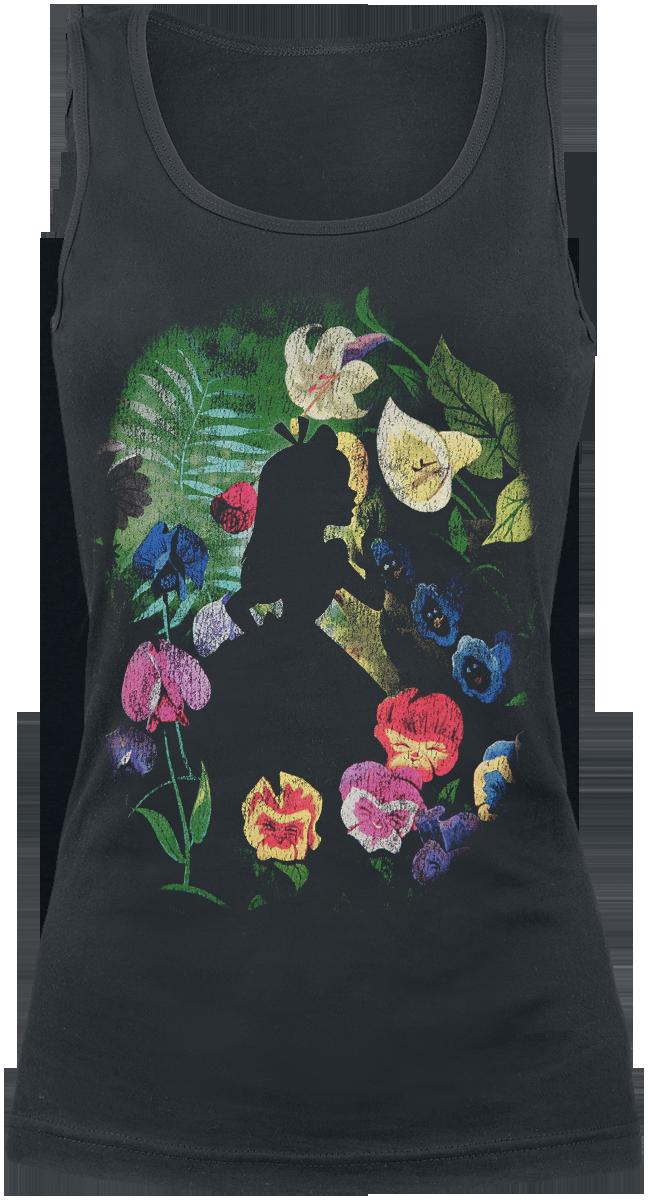 Alice in Wonderland - Black Flower - Girls Top - black image