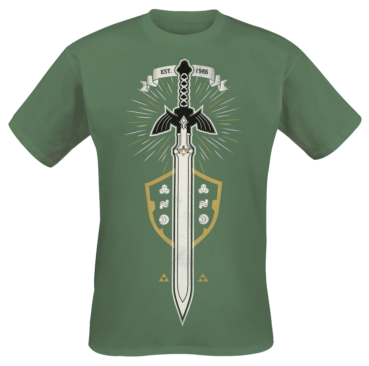 The Legend Of Zelda - The Master Sword - T-Shirt - green image