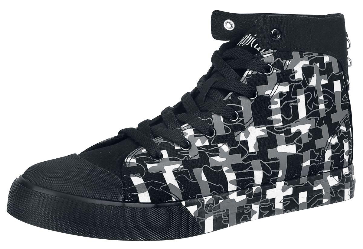 Sneakers für Frauen - Gothicana by EMP Walk The Line Sneaker schwarz  - Onlineshop EMP