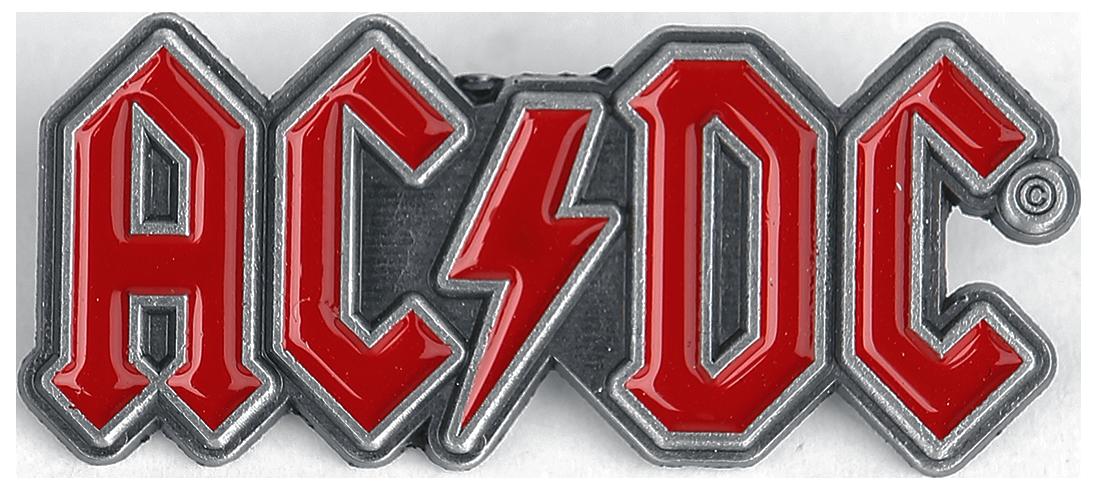 AC/DC - Red Logo - Pin - rot