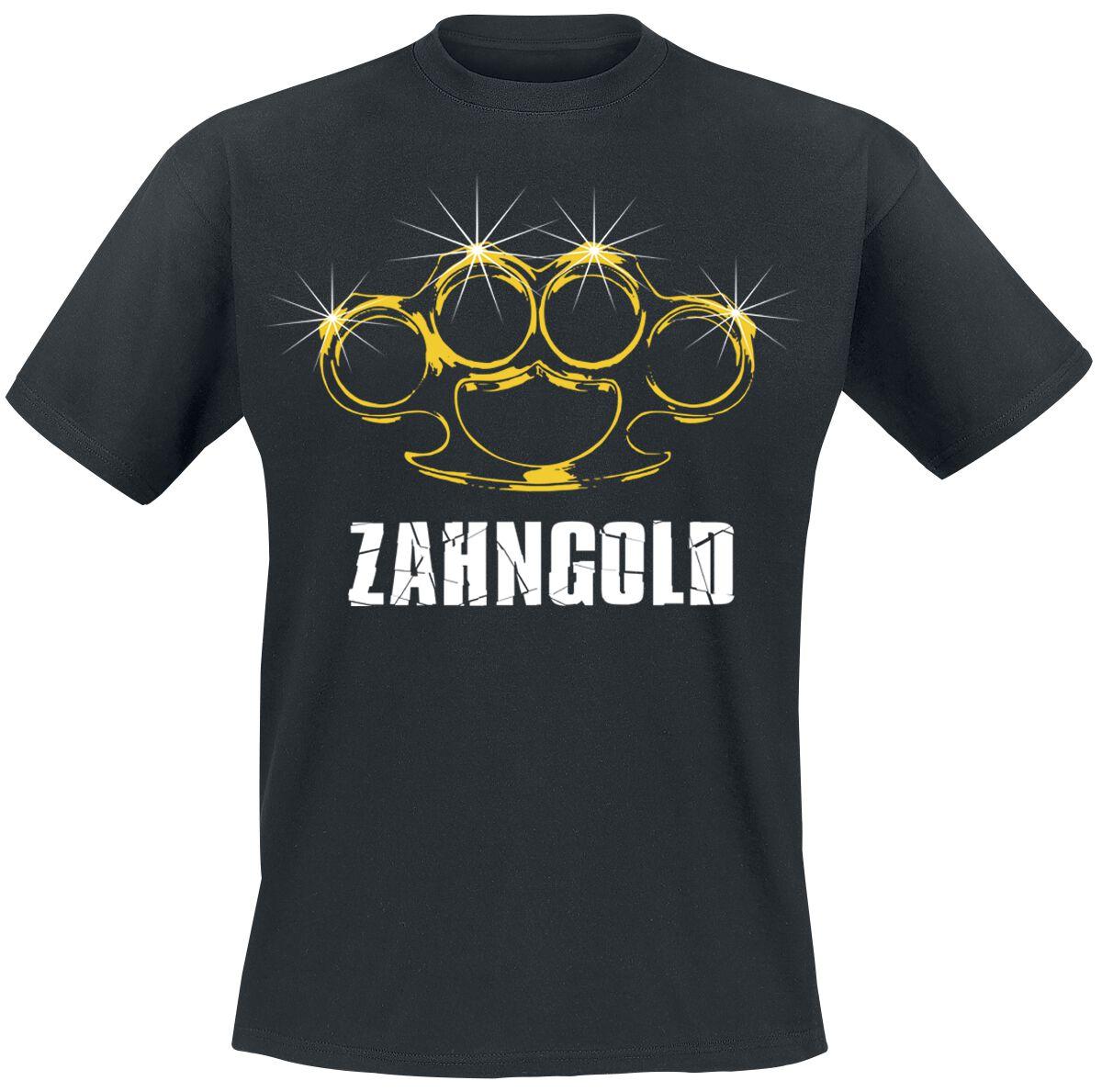 Zahngold T-Shirt schwarz POD - Gildan 64000 - Zahngold