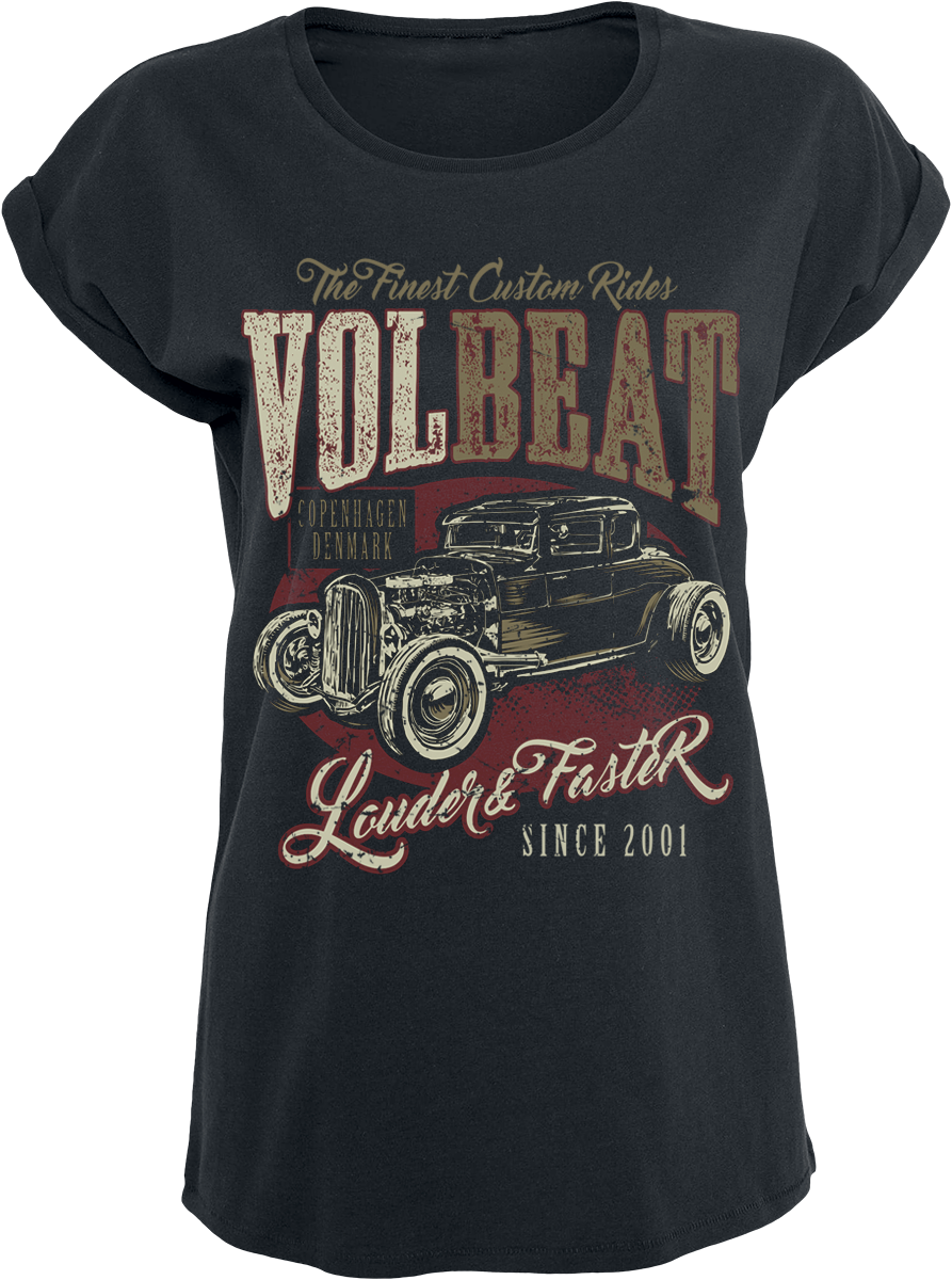 Volbeat - Louder And Faster - Girls shirt - black image