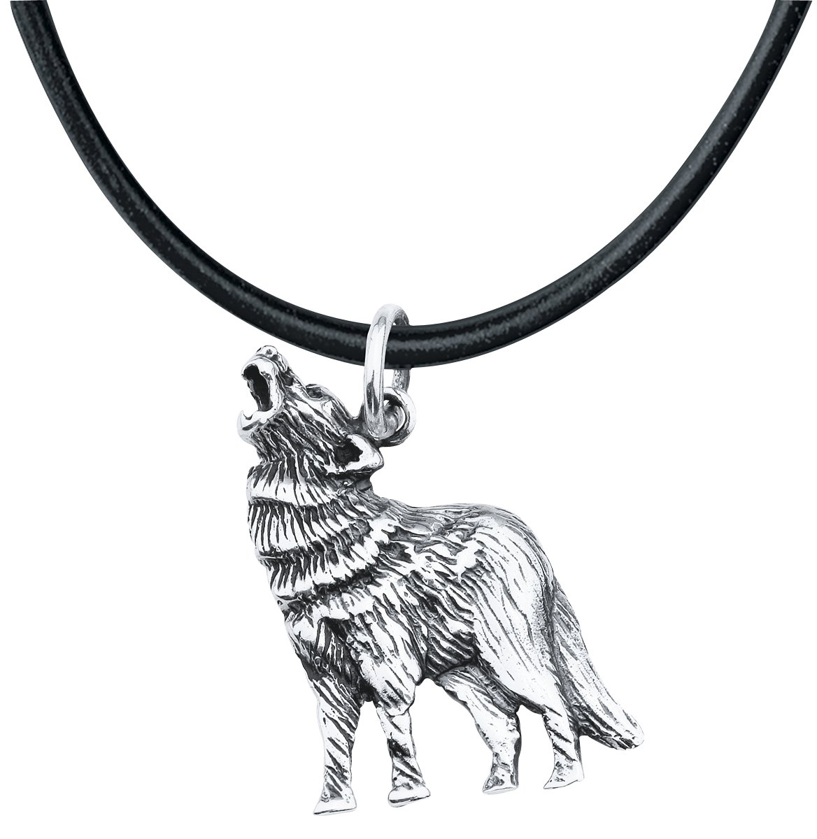 etNox - Silberwolf - Anhänger - silberfarben