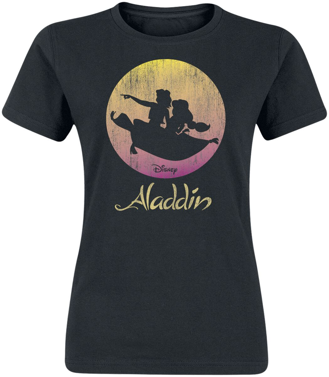 Image of Aladdin Flying Sunset Girl-Shirt schwarz