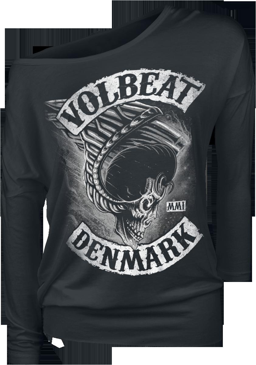 Volbeat - Flying Skullwing - Girls longsleeve - black image