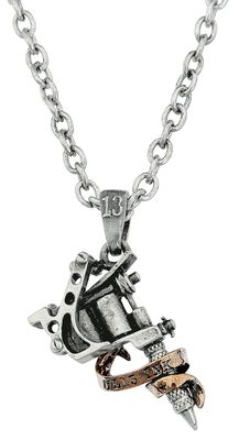 Alchemy: Pewter Pendant: Tattoo Gun