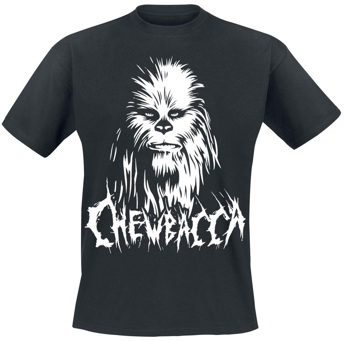 Black Metal Chewbacca Star Wars T Shirt Emp