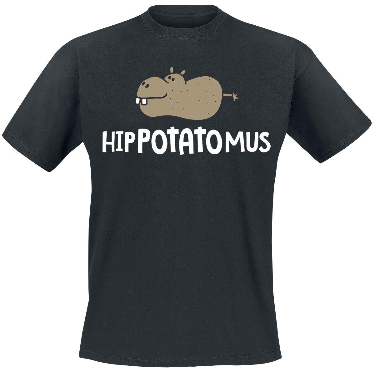 Hippotatomus T-Shirt schwarz POD - BY083 - POD