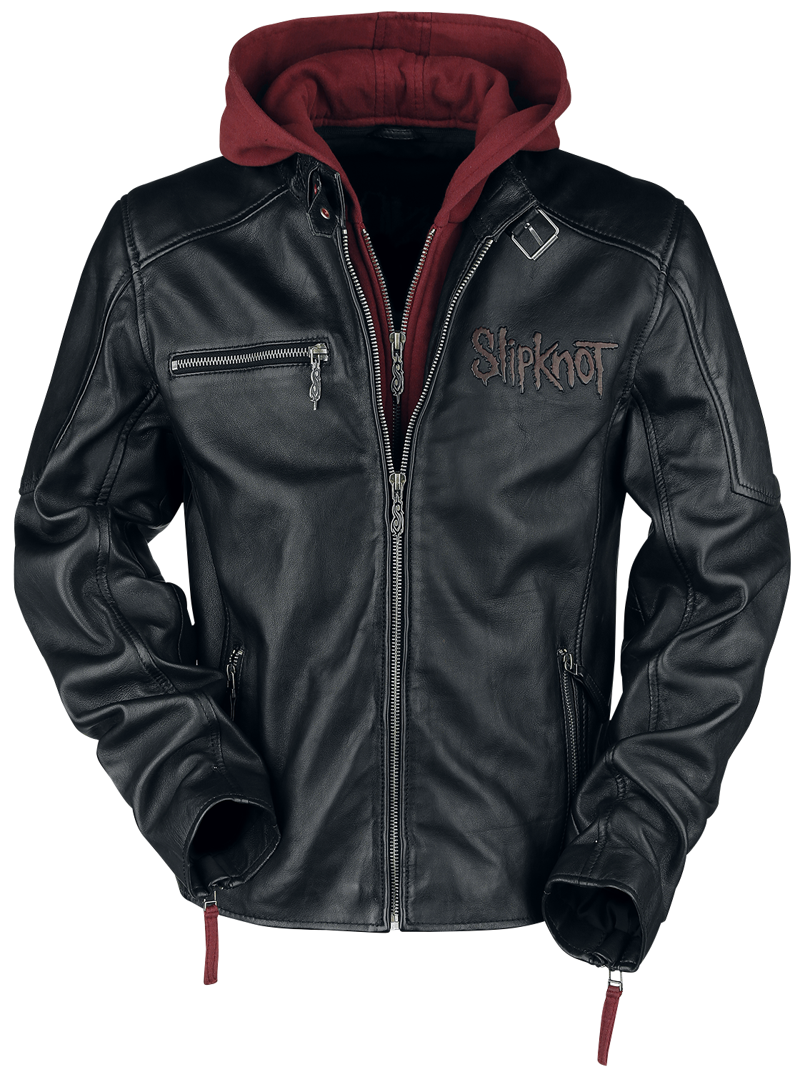Slipknot - EMP Signature Collection - Lederjacke - schwarz| rot - EMP Exklusiv!