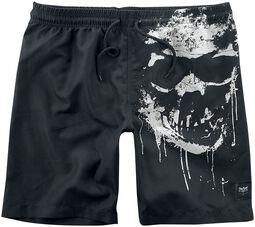 Badeshorts mit Skull-Print Black Premium