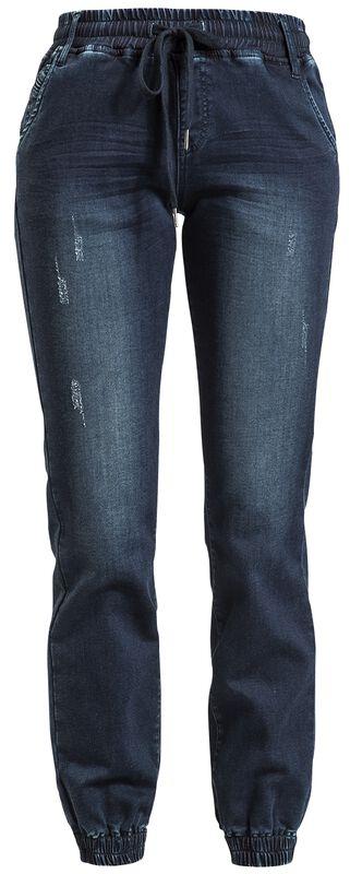 Dunkelblaue Jeans im lässigen Schnitt