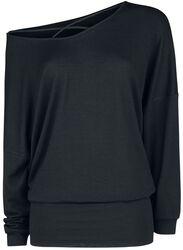 Oversize Straped Knitted Sweatshirt