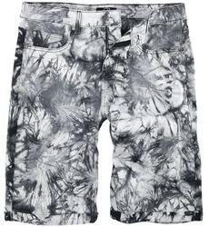 Weiß/Schwarze Shorts mit Waschung
