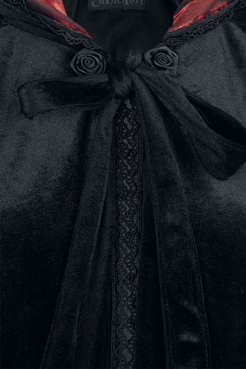 Image of Sinister Gothic Gothic Cape Cape schwarz/rot