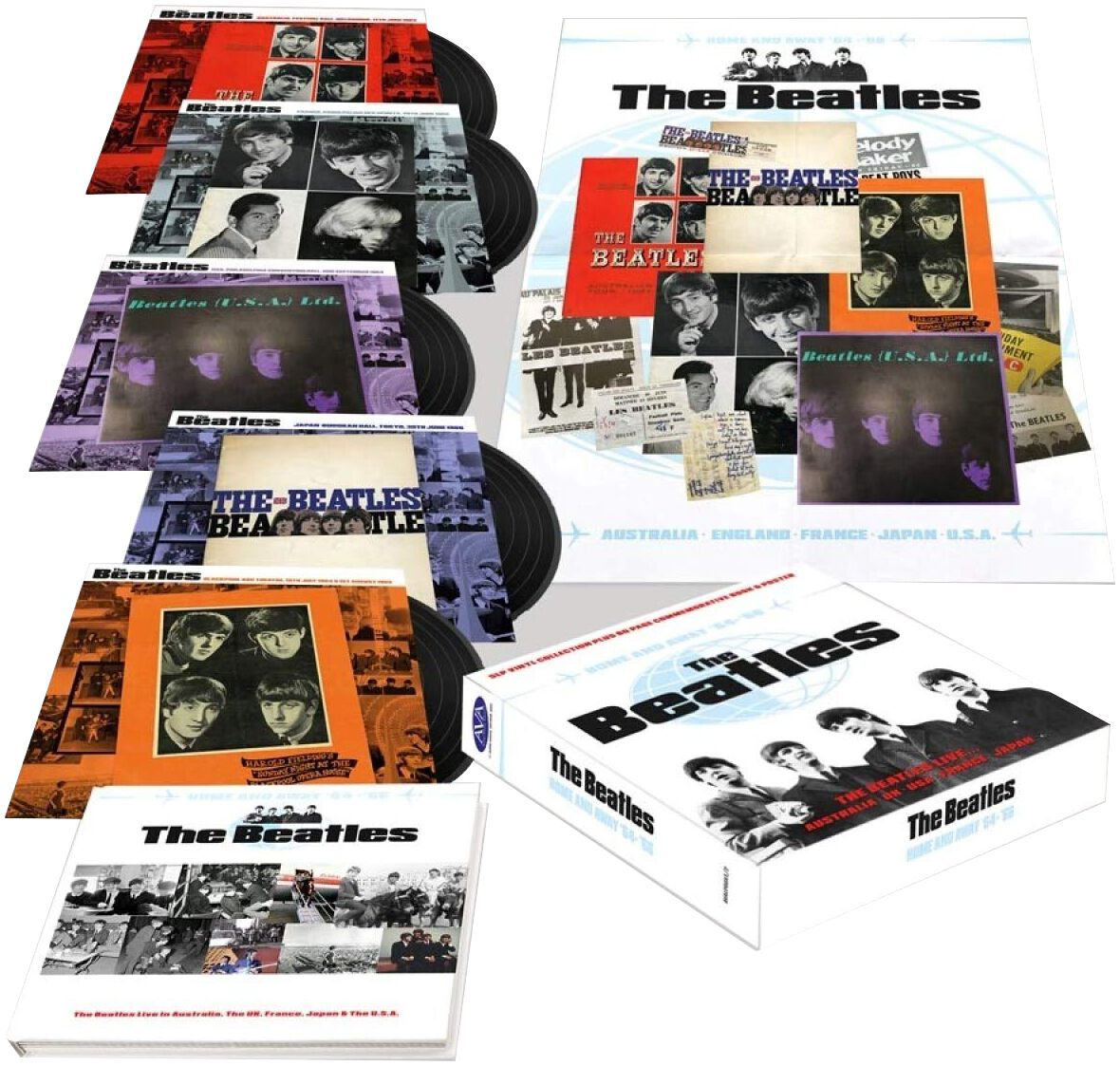 Image of The Beatles Home And Away '64-'66 5-LP Standard