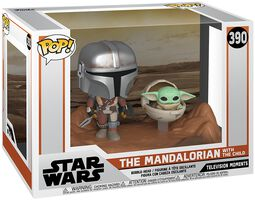 The Mandalorian - The Mandalorian with The Child (Movie Moments) Vinyl Figur 390