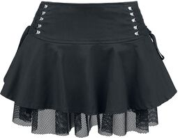 Night Queen Lace Up Mini Skirt
