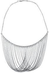 Graue Halskette mit langen Ketten