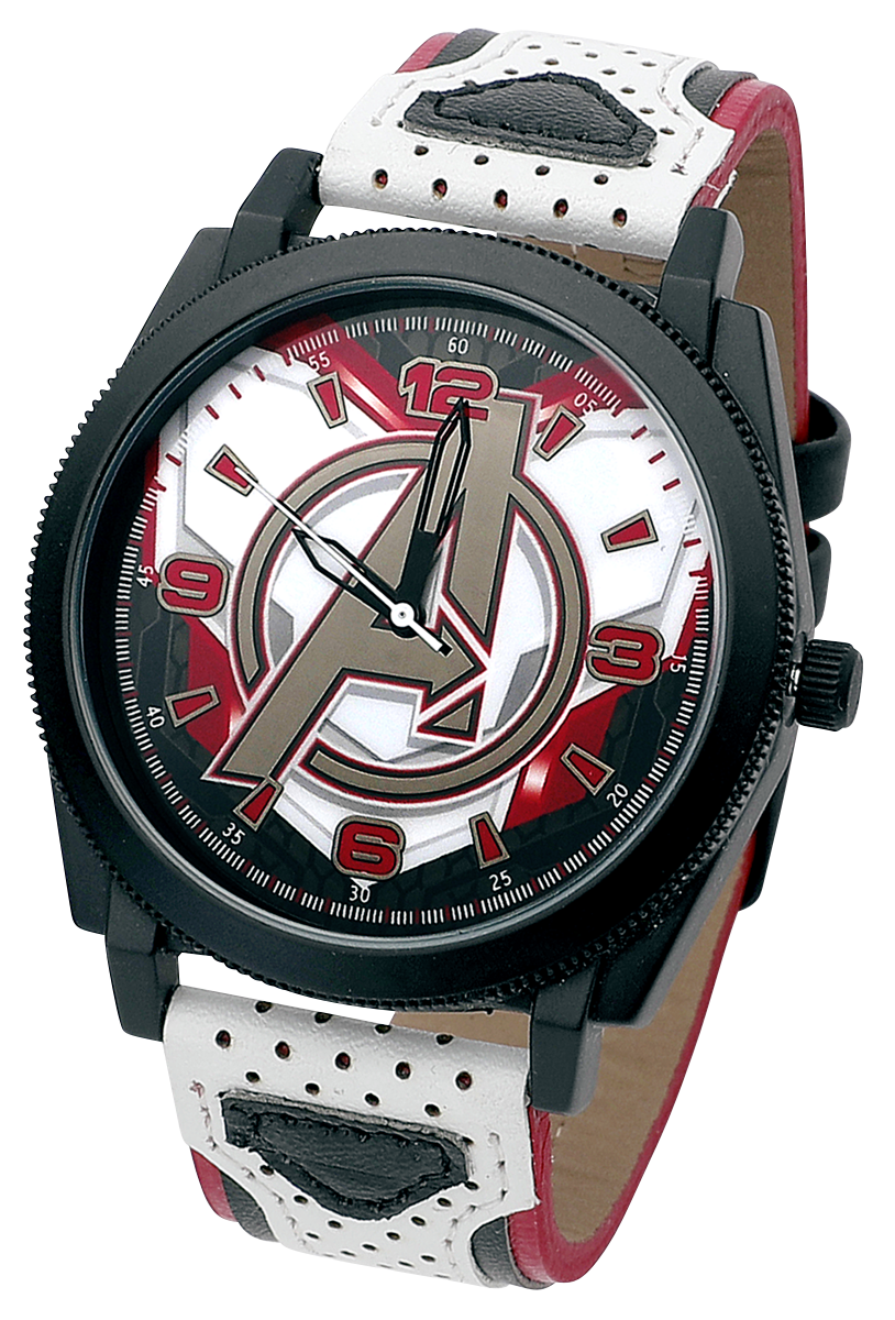 Avengers - Avengers Logo - Armbanduhren - weiß  schwarz  rot