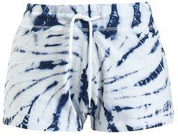 Blau/Weiße Batik Shorts