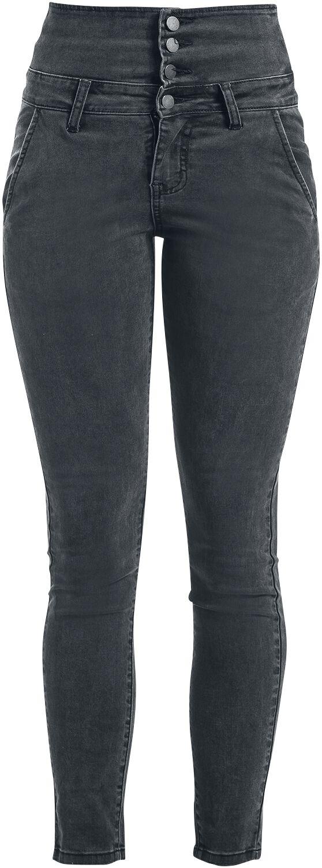 Hosen - Forplay High Waist Denim Jeans Jeans grau  - Onlineshop EMP