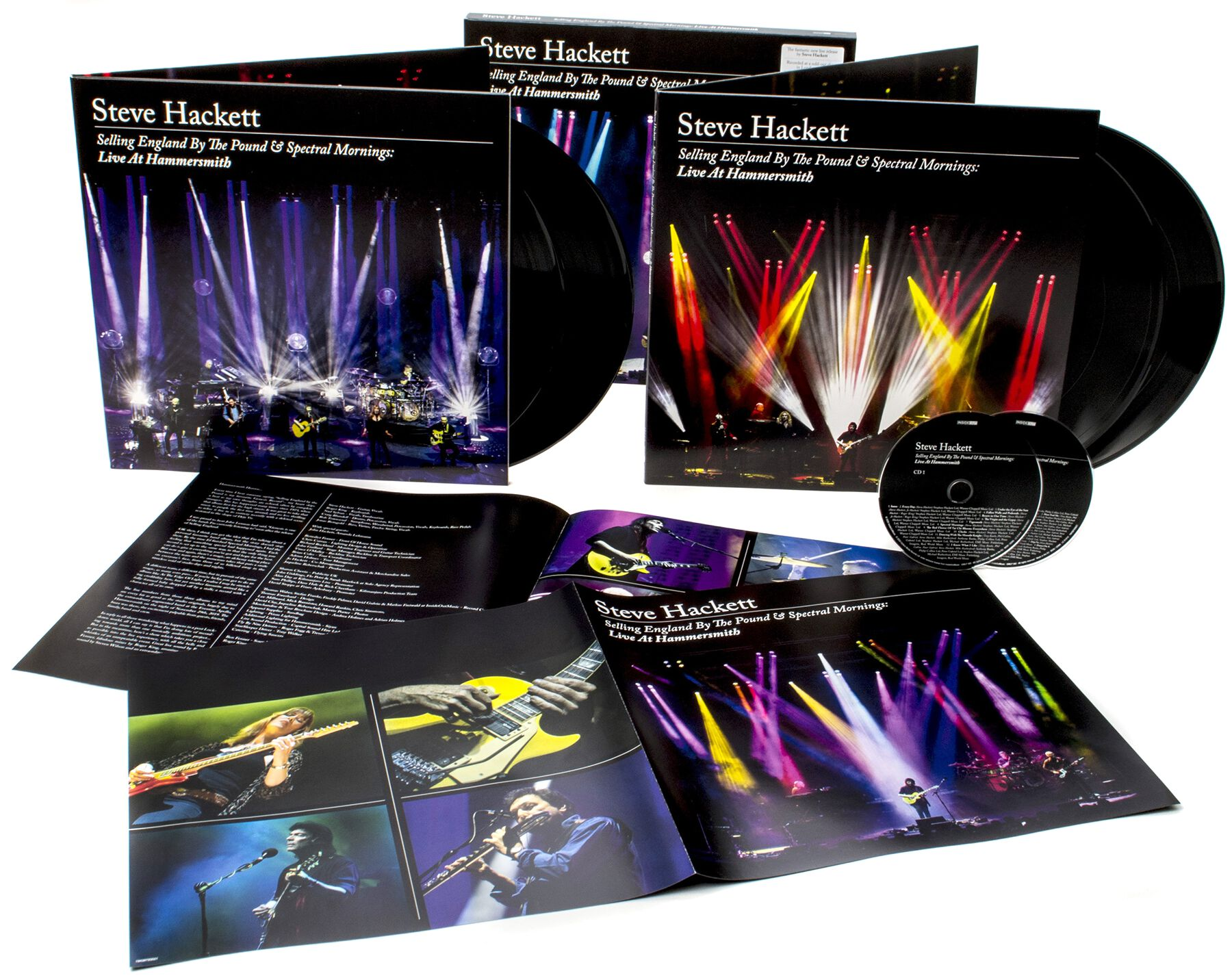 Image of Steve Hackett Selling England By The Pound & Spectral Mornings: Live At Hammersmith 4-LP & 2-CD Standard