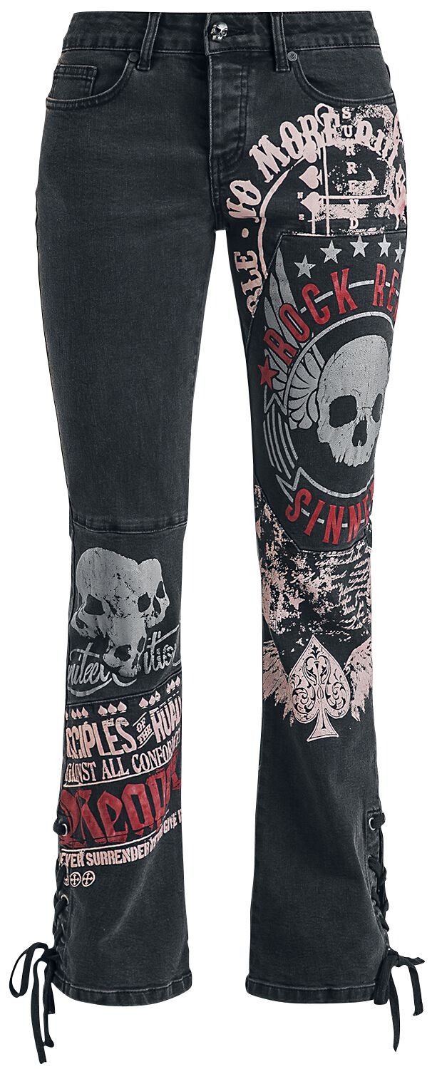 Hosen - Rock Rebel by EMP Grace Jeans schwarz  - Onlineshop EMP