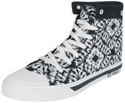 Schwarz/weiße Sneaker im Batik Look