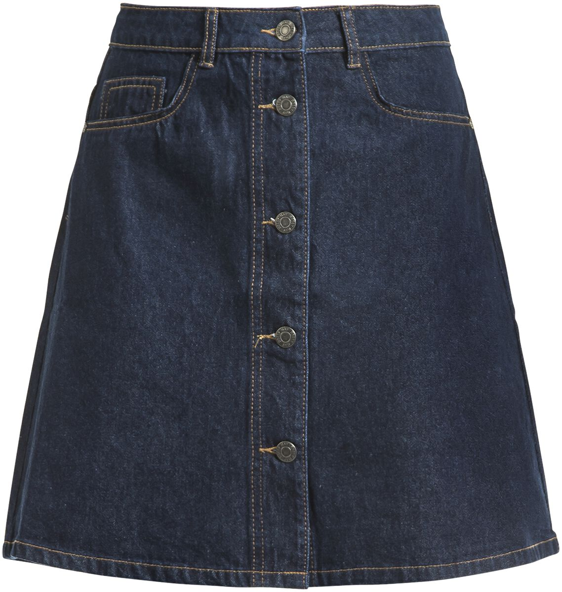 Roecke für Frauen - Noisy May Sunny Shortdenim Skater Skirt Mittellanger Rock dunkelblau  - Onlineshop EMP