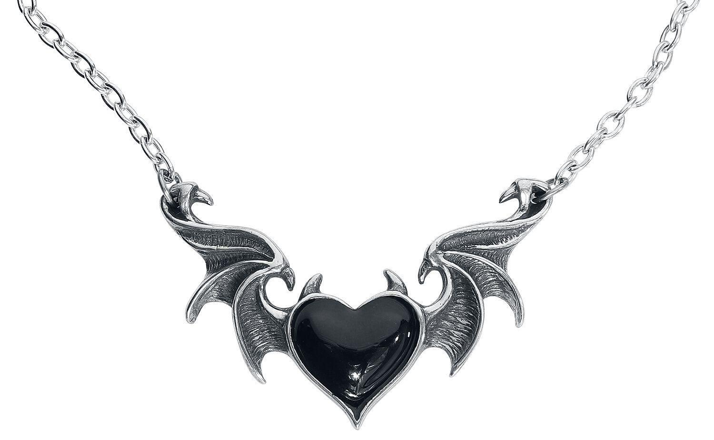 Image of Alchemy Gothic BlackSoul Halskette schwarz/silberfarben