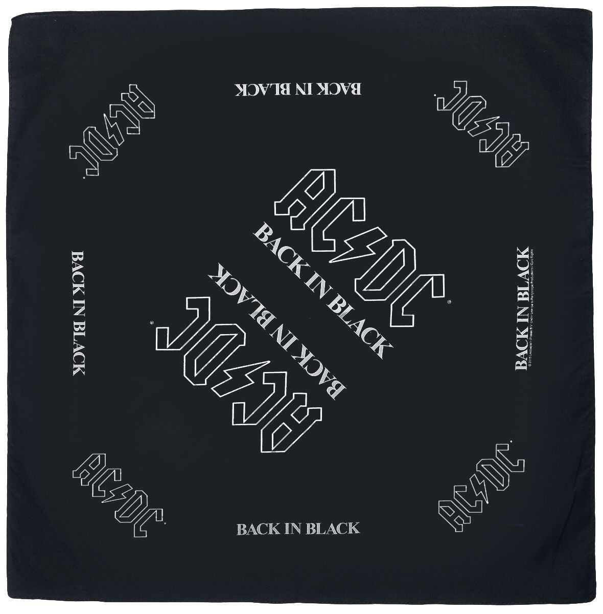 Image of AC/DC Back in Black - Bandana Bandana schwarz