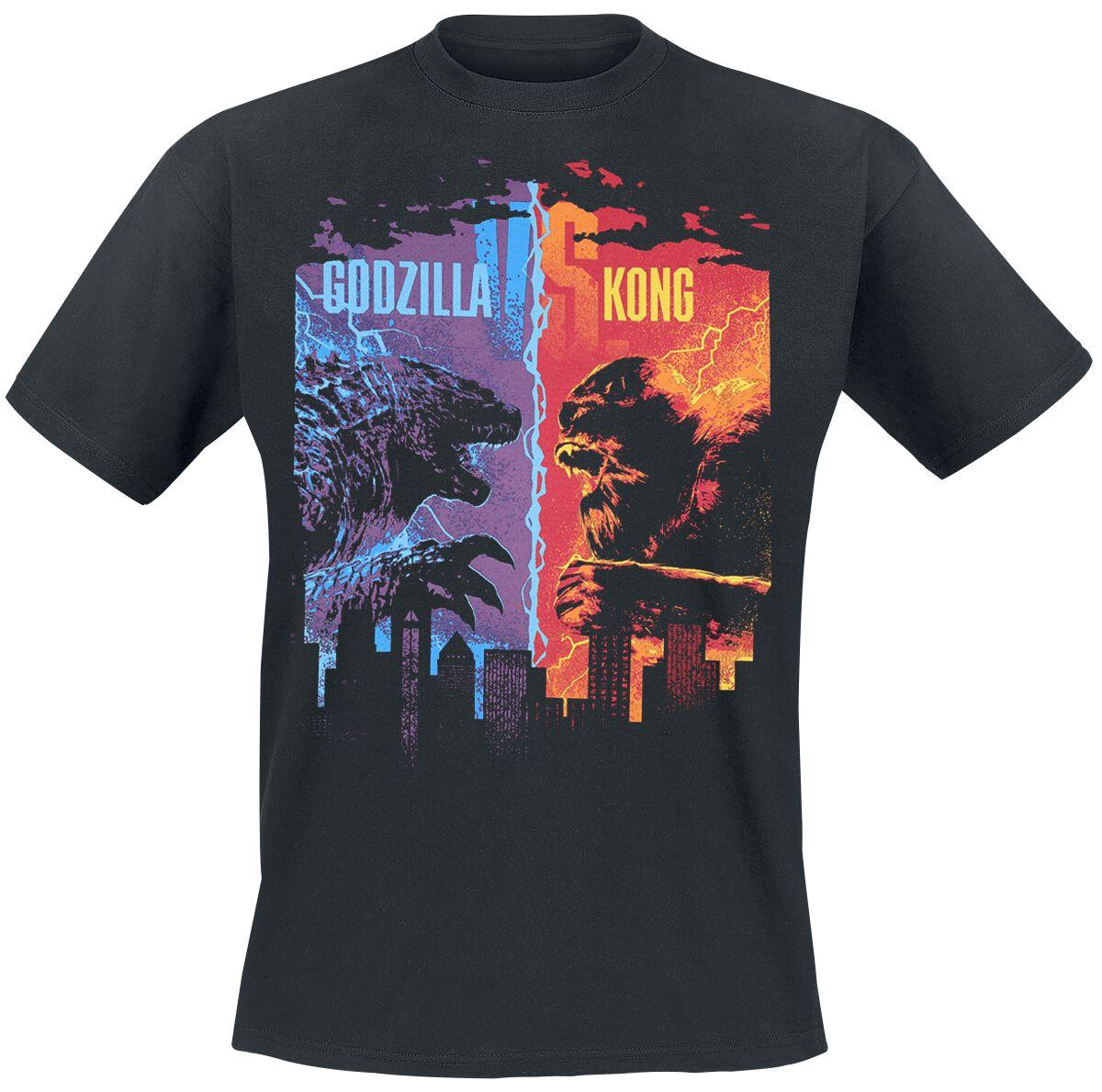 Godzilla Godzilla vs. King Kong T-Shirt schwarz Indie2650 FOTL Iconic 165 (61-438-0)