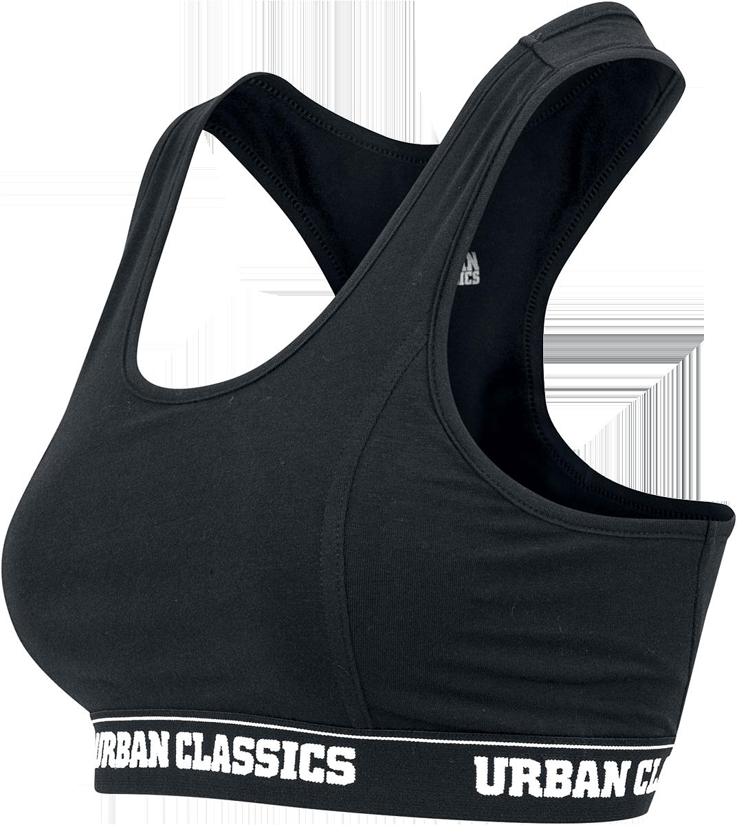 Image of Urban Classics Ladies Logo Bra Bustier schwarz