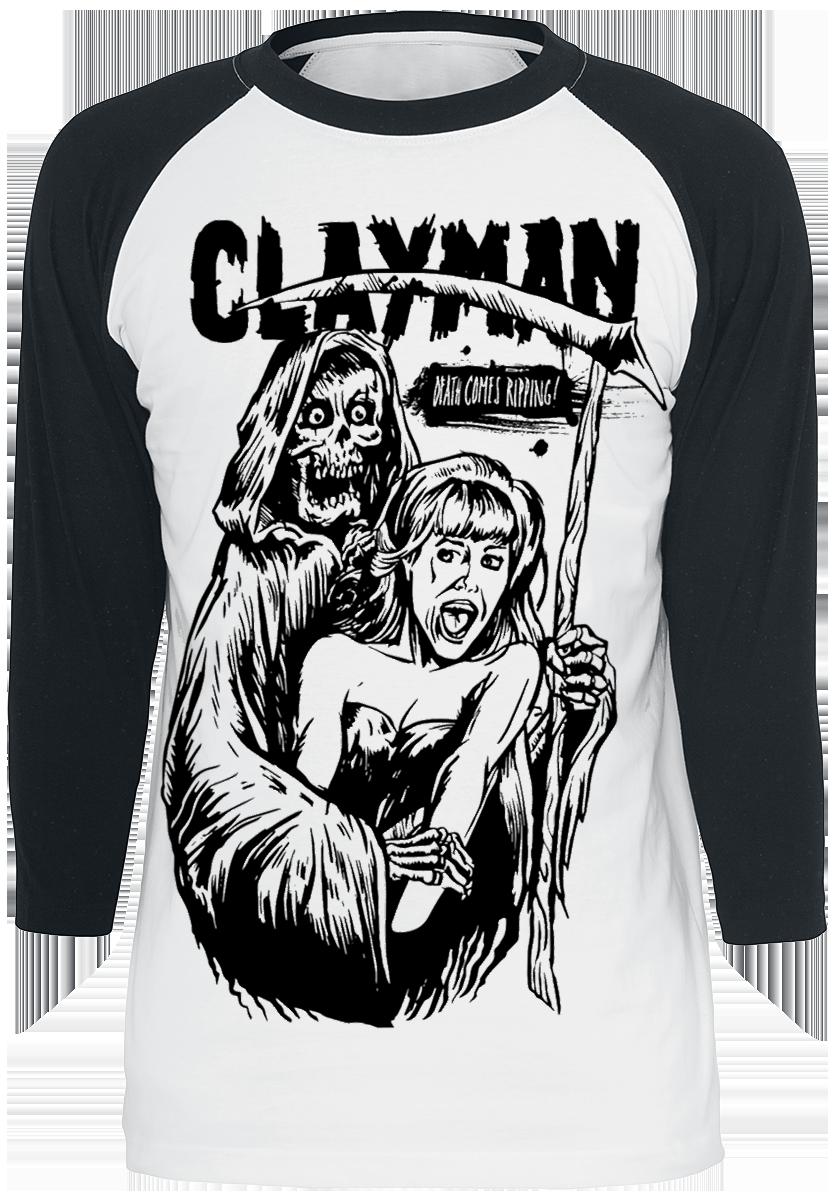 Clayman Ltd. - Reaper - Longsleeve - white/black image