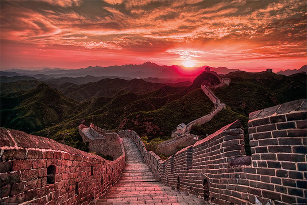 The Great Wall Of China Sunset