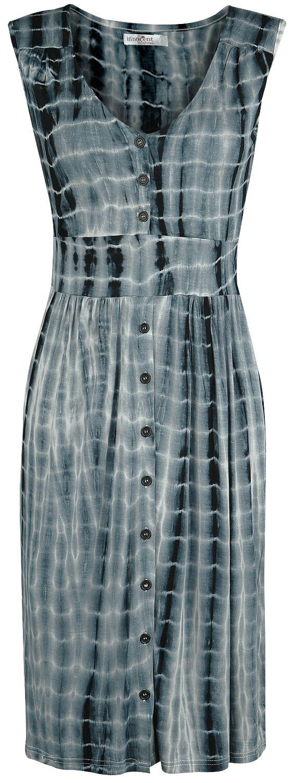 Kleider - Innocent Luna Dress Mittellanges Kleid blau weiß  - Onlineshop EMP
