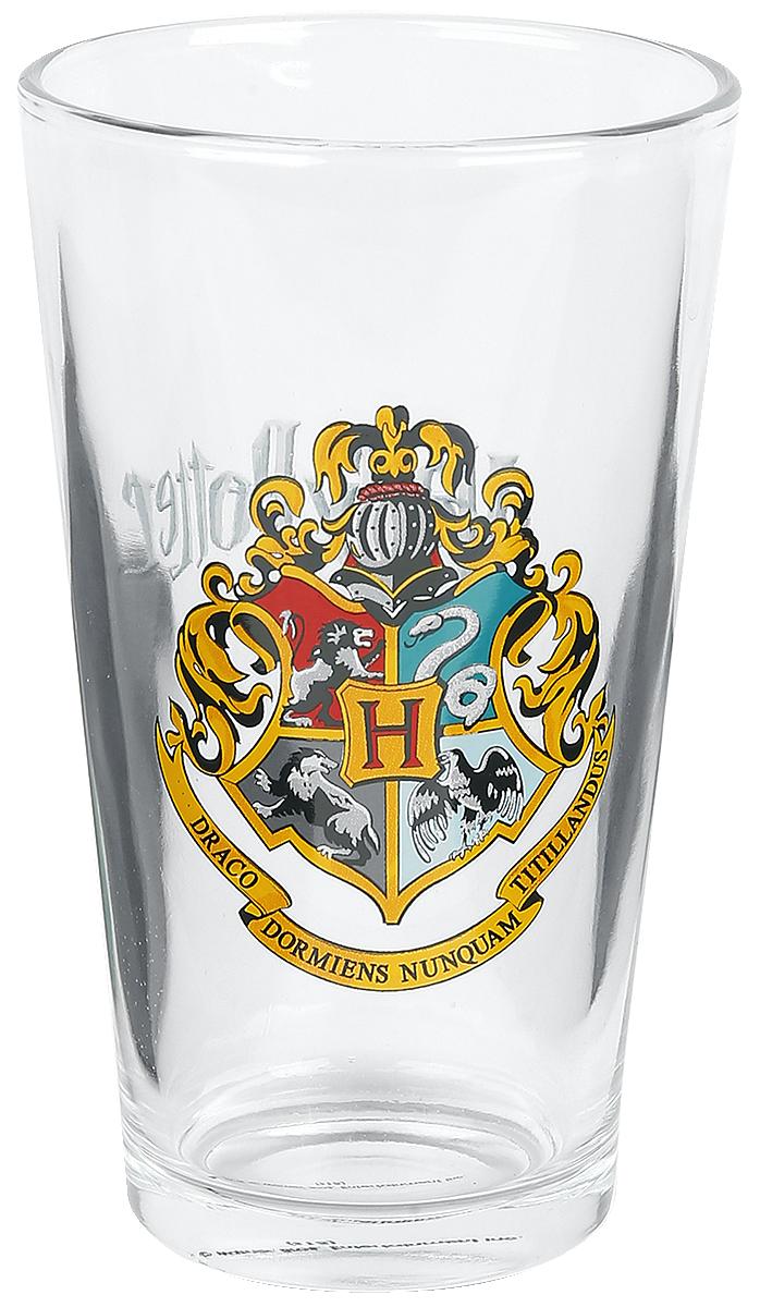 Harry Potter - Hogwarts Crest - Pint-Glas - klar