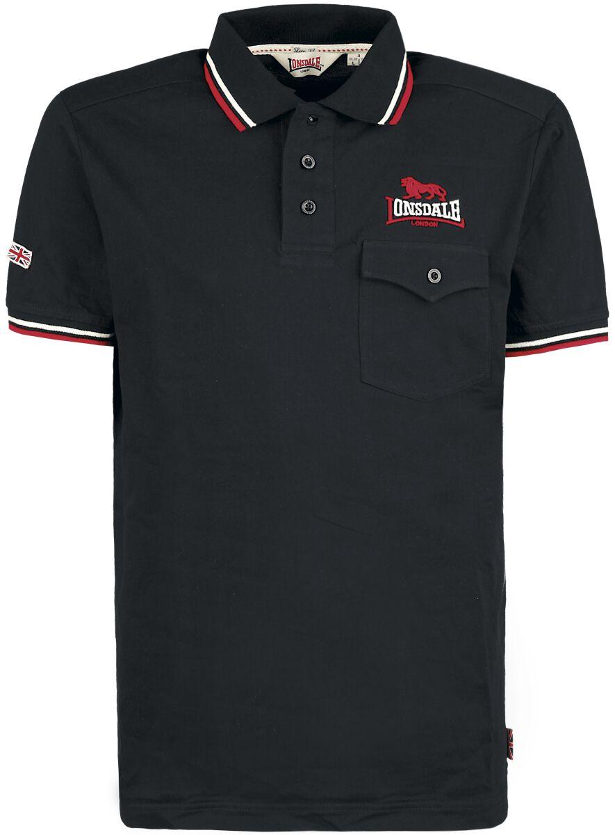 Lonsdale London Lynton Poloshirt schwarz 111168-1000