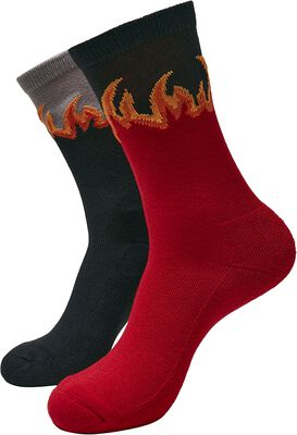 Long Flame Socks 2-Pack