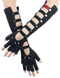 Lange fingerlose Handschuhe mit Nieten