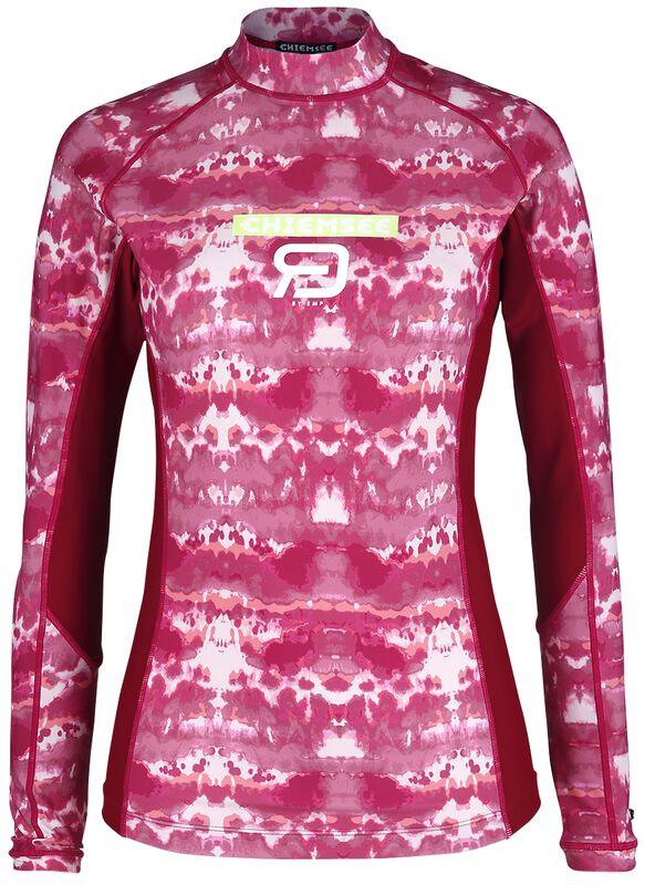 RED X CHIEMSEE - weiß/rotes batik Swimshirt