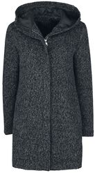 Melange Hooded Coat