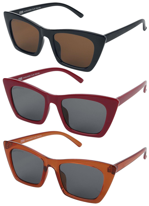Urban Classics - Tilos 3-Pack - Sonnenbrille - multicolor