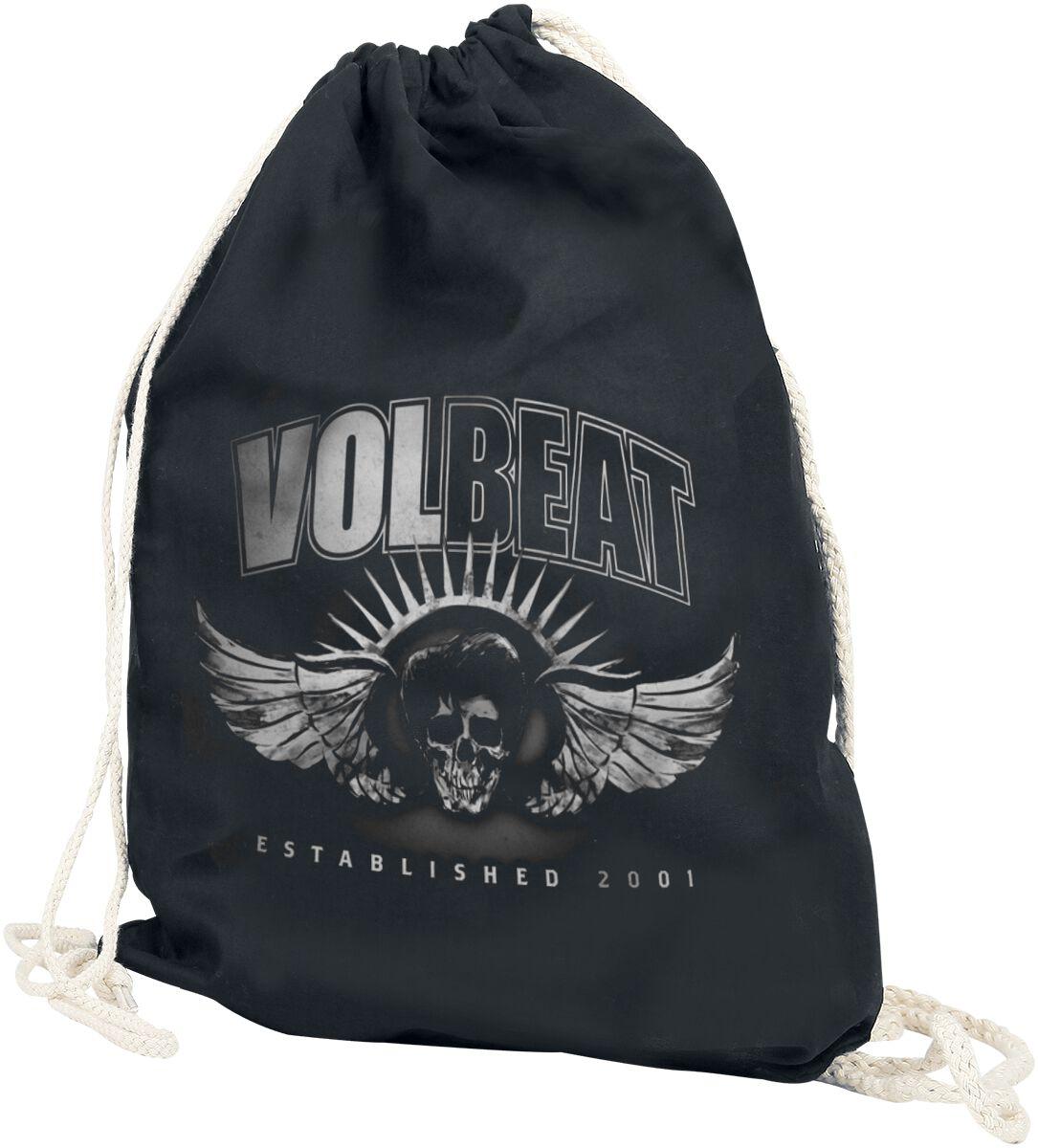 Sporttaschen - Volbeat Dark Skullwing Turnbeutel schwarz  - Onlineshop EMP