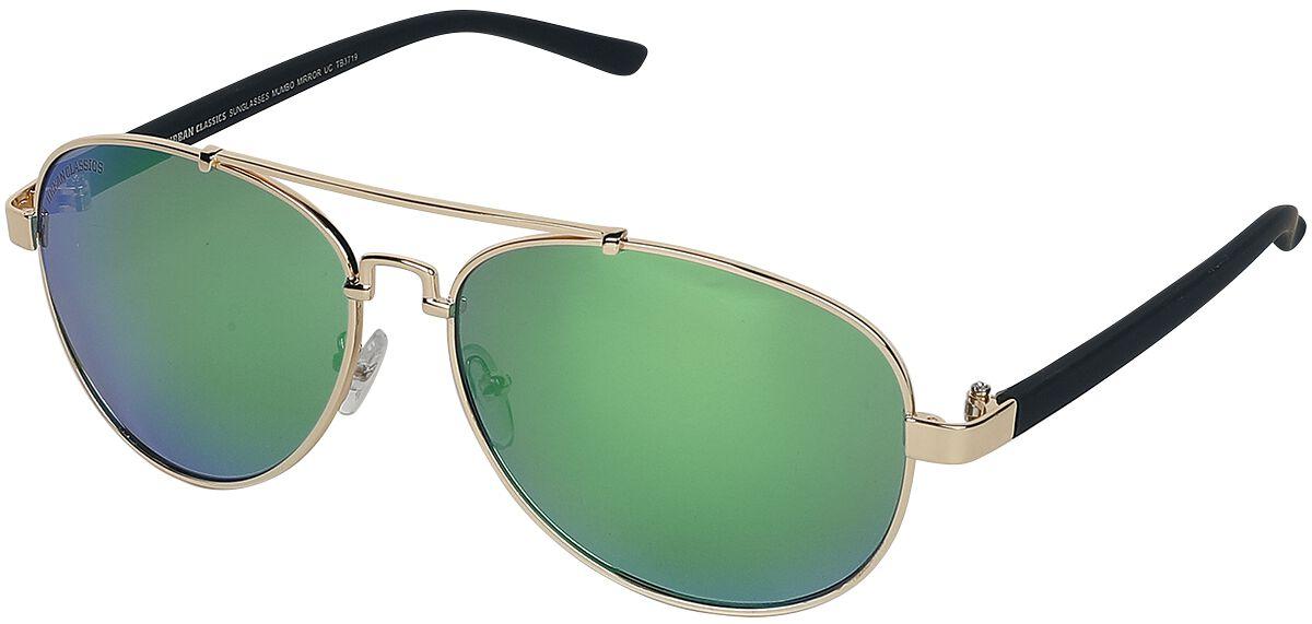 Sonnenbrillen - Urban Classics Mumbo Mirror Sonnenbrille grün gold  - Onlineshop EMP