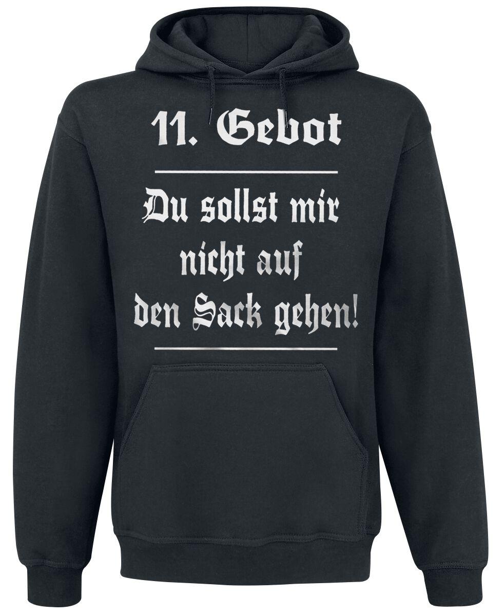 Image of 11. Gebot Kapuzenpulli schwarz