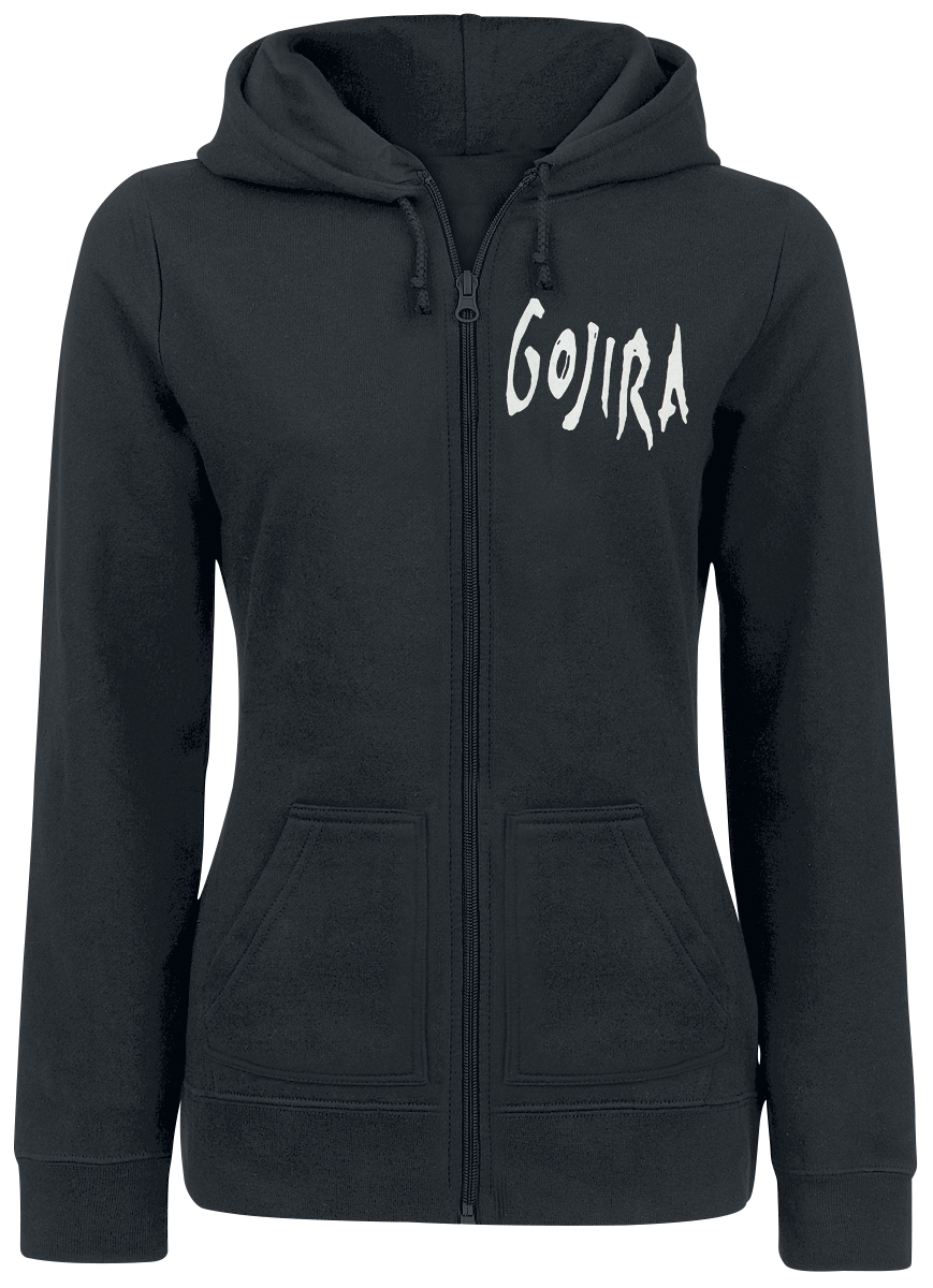 Gojira -  - Girls hooded zip - black image