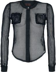 Netzbluse mit Brusttaschen