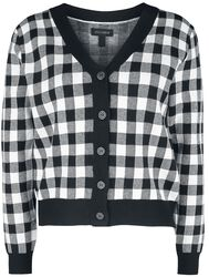 Button Up Checked Cardigan